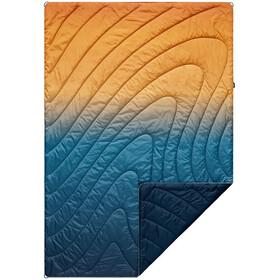 Rumpl Original Puffy Printed Deken 1 persoon, blauw/oranje